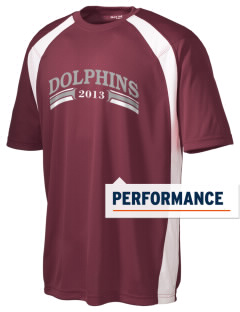 Savannah Elementary School Dolphins Men's Dry Zone Colorblock T-Shirt
