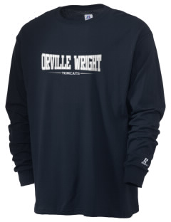 Orville Wright Middle School Tomcats  Russell Men's Long Sleeve T-Shirt