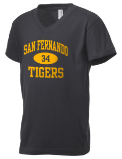 San Fernando High School Tigers Kid's V-Neck Jersey T-Shirt