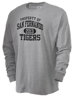 San Fernando High School Tigers  Russell Men's Long Sleeve T-Shirt