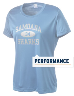 samoana high sharks Women's Competitor Performance T-Shirt