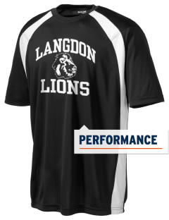 Langdon Elementary School Lions Men's Dry Zone Colorblock T-Shirt