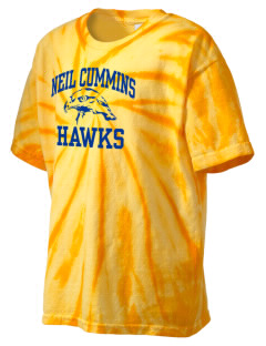 Neil Cummins Elementary School Hawks Kid's Tie-Dye T-Shirt
