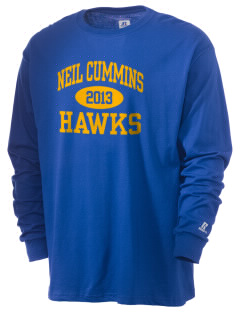 Neil Cummins Elementary School Hawks  Russell Men's Long Sleeve T-Shirt