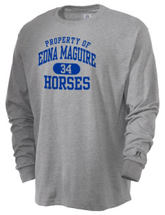 Edna Maguire Elementary School Horses  Russell Men's Long Sleeve T-Shirt