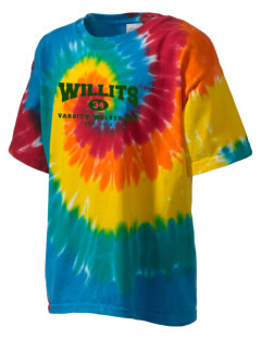 Willits High School Wolverines Kid's Tie-Dye T-Shirt