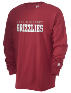 Carl E Gilbert Elementary School Grizzlies  Russell Men's Long Sleeve T-Shirt