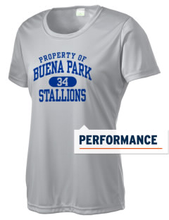 Buena Park Junior High School Stallions Women's Competitor Performance T-Shirt