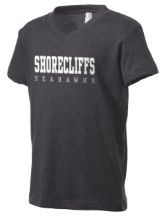 Shorecliffs Middle School Seahawks Kid's V-Neck Jersey T-Shirt