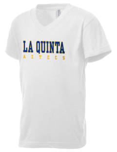La Quinta High School Aztecs Kid's V-Neck Jersey T-Shirt