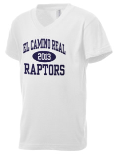 El Camino Real High School Conquistodores Kid's V-Neck Jersey T-Shirt