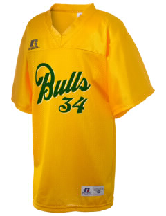 Bowman Elementary School Bulls Russell Kid's Replica Football Jersey