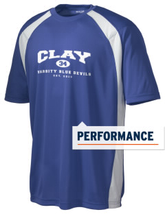 Clay High School Blue Devils Men's Dry Zone Colorblock T-Shirt