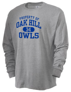 Oak Hill Elementary School Owls  Russell Men's Long Sleeve T-Shirt