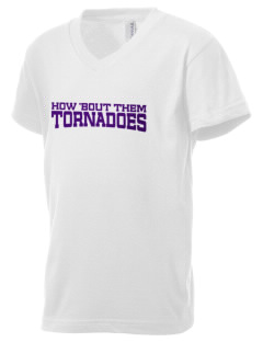 Emma E Booker Elementary School Tornadoes Kid's V-Neck Jersey T-Shirt