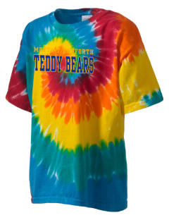 Metta T Danforth Primary School Teddy Bears Kid's Tie-Dye T-Shirt