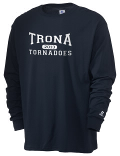 Trona High School Tornadoes  Russell Men's Long Sleeve T-Shirt