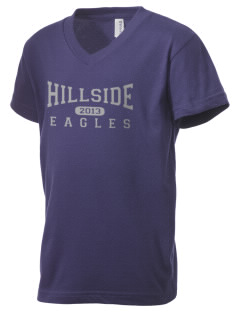 Hillside High School Eagles Kid's V-Neck Jersey T-Shirt