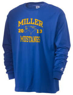 Miller Elementary School Mustangs  Russell Men's Long Sleeve T-Shirt