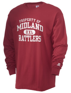 Midland Elementary School Rattlers  Russell Men's Long Sleeve T-Shirt