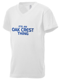 Oak Crest Middle School Waves Kid's V-Neck Jersey T-Shirt