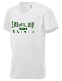 San Pasqual Union School Saints Kid's V-Neck Jersey T-Shirt