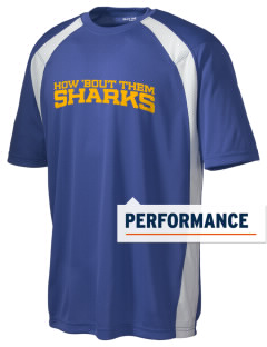 Ulloa Elementary School Sharks Men's Dry Zone Colorblock T-Shirt