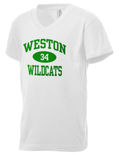 Weston Elementary School Wildcats Kid's V-Neck Jersey T-Shirt