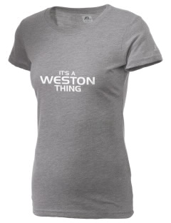 Weston Elementary School Wildcats  Russell Women's Campus T-Shirt
