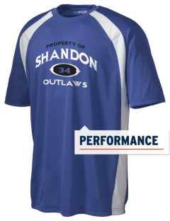 Shandon Senior High School Outlaws Men's Dry Zone Colorblock T-Shirt