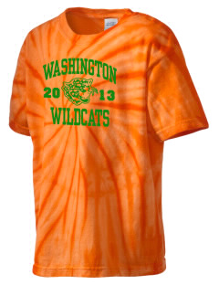 Washington Elementary School Wildcats Kid's Tie-Dye T-Shirt