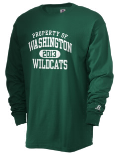 Washington Elementary School Wildcats  Russell Men's Long Sleeve T-Shirt