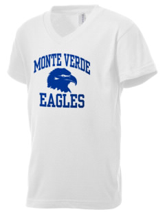 Monte Verde Elementary School Eagles Kid's V-Neck Jersey T-Shirt
