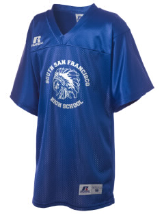 South San Francisco High School Warriors Russell Kid's Replica Football Jersey