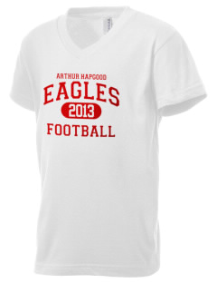 Arthur Hapgood Elementary School Eagles Kid's V-Neck Jersey T-Shirt