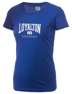 Loyalton Junior High School Cougars  Russell Women's Campus T-Shirt