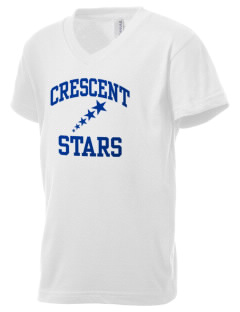 Crescent Elementary School Stars Kid's V-Neck Jersey T-Shirt