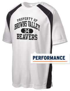 Browns Valley Elementary School Beavers Men's Dry Zone Colorblock T-Shirt