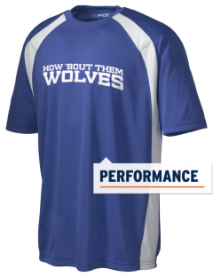 Douglass Valley Elementary School Wolves Men's Dry Zone Colorblock T-Shirt