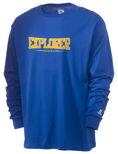 Explorer Elementary School Hawks  Russell Men's Long Sleeve T-Shirt