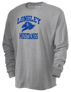 Longley Elementary School Mustangs  Russell Men's Long Sleeve T-Shirt