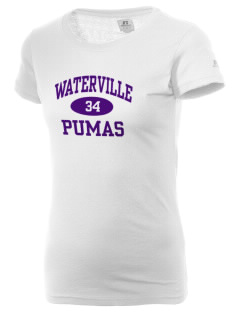 Waterville Junior High School Pumas  Russell Women's Campus T-Shirt