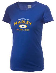 Marley Middle School Mustangs  Russell Women's Campus T-Shirt