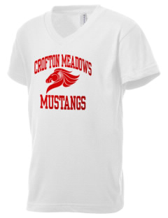 Crofton Meadows Elementary School Mustangs Kid's V-Neck Jersey T-Shirt