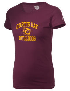 Curtis Bay Elementary School Bulldogs  Russell Women's Campus T-Shirt