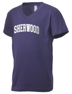 Sherwood High School Warriors Kid's V-Neck Jersey T-Shirt
