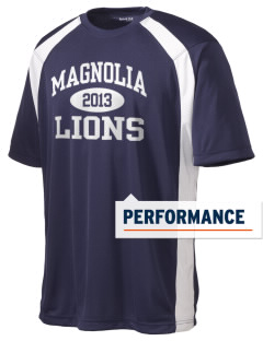 Magnolia Elementary School Lions Men's Dry Zone Colorblock T-Shirt
