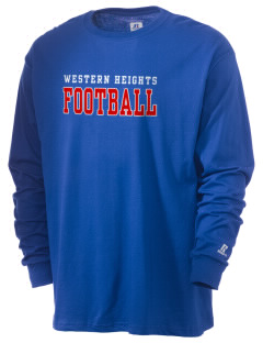 Western Heights Middle School Bears  Russell Men's Long Sleeve T-Shirt