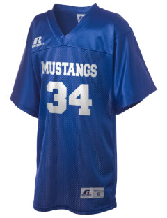 Ramona Elementary School Mustangs Russell Kid's Replica Football Jersey