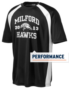 Milford High School Hawks Men's Dry Zone Colorblock T-Shirt